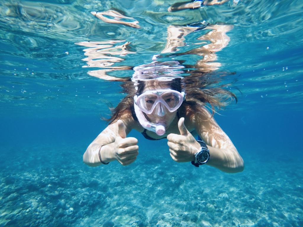 Sabrina Lutz trägt unter Wasser eine Citizen Promaster Uhr